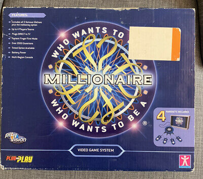 £14.98 • Buy Video Game System Who Wants To Be A Millionaire Plug And Play TV Game 2006 VGC