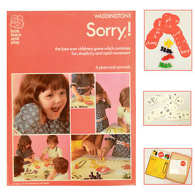 £24.95 • Buy Vintage Sorry! Board Game Waddingtons100% Complete With Instructions 1970s
