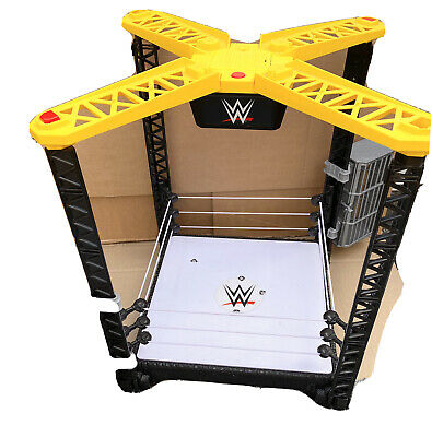 £19.99 • Buy WWE CLASSIC TOUGH TALKERS WRESTLING RING & 2 MINI CAGES KID TOY Role PLAY MATTEL