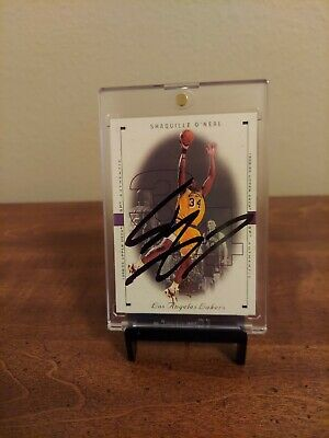 AU141.41 • Buy Shaquille O'neal Signed Card Los Angeles Lakers