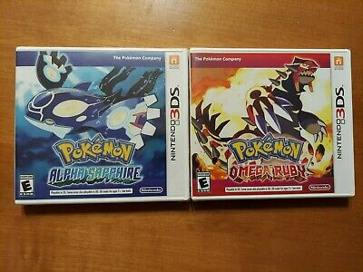 $399.41 • Buy Nintendo 3DS Pokemon LOT OF 2 Omega Ruby & Alpha Sapphire AUTHENTIC READ