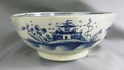 £68 • Buy Pearlware Blue Painted Punch Bowl, 9 1/2 Inches, C 1795