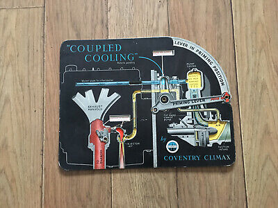 £35 • Buy Coventry Climax Fire Pump Fire Fighter Rare Moving Diagram Coupled Cooling