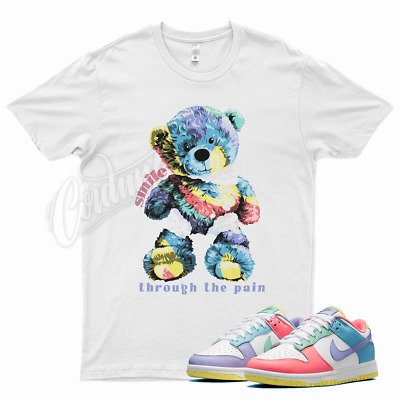 $26.99 • Buy White SMILE T Shirt For Nike Dunk Low Candy Soft Pink Easter Sunset Pulse Glow