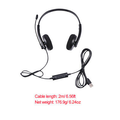 £7.69 • Buy USB Headphone With Microphone Noise Cancelling Headset Skype Laptop Telephone