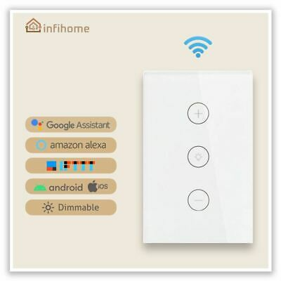 AU28.99 • Buy Smart Home WiFi Touch Control Dimmable Light Wall Switch For Alexa & Google