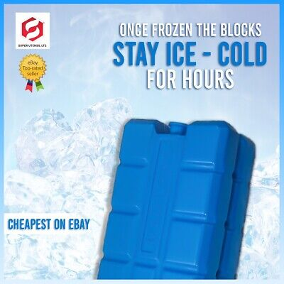 £4.99 • Buy New Freezer Blocks Ice Cool Pack Cooler Bag Picnic Travel Lunch Box BBQ