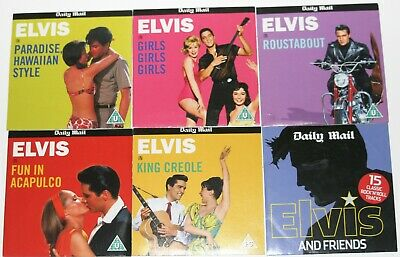 £4.99 • Buy Five Daily Mail Elvis DVD's And One Elvis CD