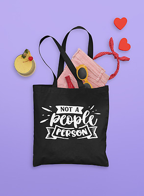 £7.99 • Buy Not A People Person Tote Bag - Funny Sarcastic Loner Emo Gift 100% Cotton
