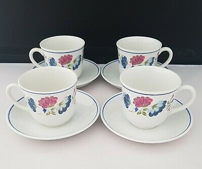 £12 • Buy BHS  British Home Stores Priory 4× Cups And Saucers In Excellent Used Condition