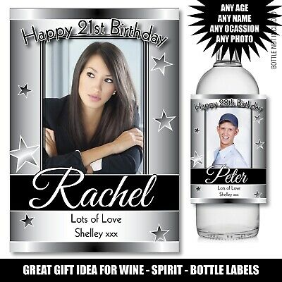 £3.23 • Buy Personalised Wine Gin Vodka Bottle PHOTO Label 18th 21st 30th Birthday Gift 165