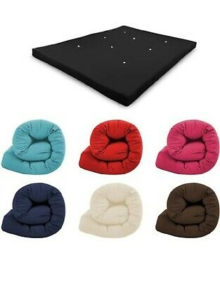 £61.97 • Buy Futon Mattress Roll Out Spare Guest Sleep Over Bed Cotton Multi Layered Tufted