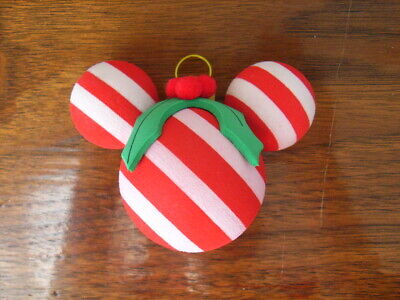 £10.61 • Buy Mickey Mouse Mistletoe Xmas Ornament Antenna Topper Ball Striped Candy Cane Red