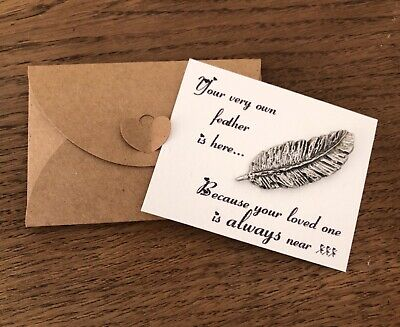 £5.35 • Buy When Feathers Appear Remembrance Bereavement Feather Gift Message Card Support