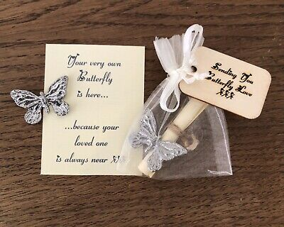 £5.35 • Buy When A Butterfly Appears Remembrance Bereavement Feather Gift Message Card