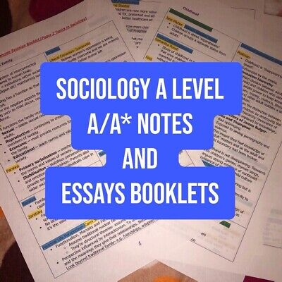 £11.99 • Buy Sociology A Level Notes And Essays Bundle