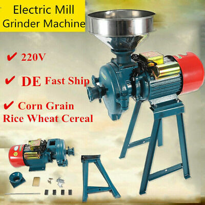 $189.16 • Buy Feed Flour Grinding Miller Milling Machine With Funnel 220V 1500W Rice Corn NEW