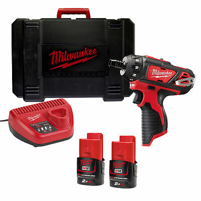 £143.99 • Buy Milwaukee M12 BD-202C 12v M12 Drill Driver With 2 X 2Ah Batteries, Charger An...