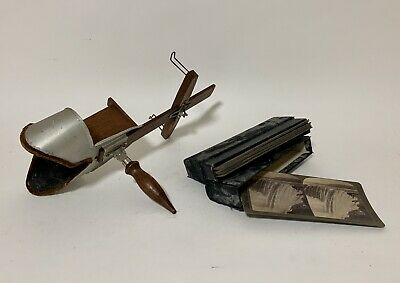 £125 • Buy Antique Vintage Underwood Stereo Viewer Stereoscope Stereoscopic Plus Cards