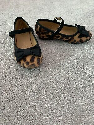 £4 • Buy Girls Leopard Print Dolly Shoes - Size 8