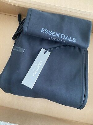 £229 • Buy Fear Of God Essentials Sweat Pant Stretch Limo Black Medium M IN BNWT AUTHENTIC