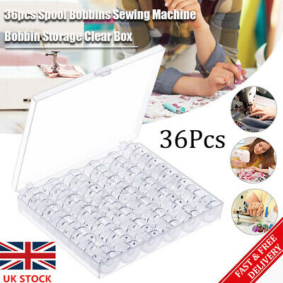 £6.95 • Buy 36Pcs Empty Bobbins Sewing Machine Spools With Box For Brother Janome Singer NEW