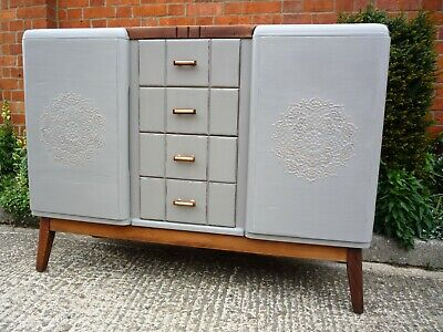 £225 • Buy Stunning Sideboard Vintage Retro Hand Painted In French Linen With Lovely Detail