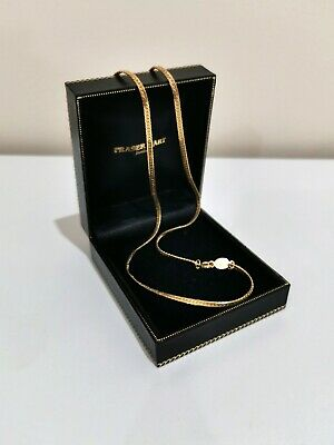 £11.99 • Buy Vintage Napier Signed Gold Tone Flat Snake Chain Necklace 12 Inches Pretty