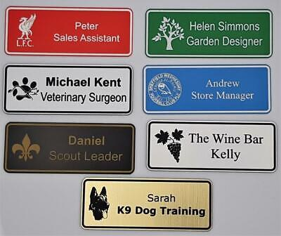 £2.90 • Buy Engraved Personalised Staff Name Badges, Shop Clubs Pub School Office With Logo