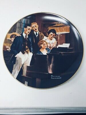 $ CDN20.08 • Buy 1984 Norman Rockwell  Close Harmony  Decorative Plate By Edwin Knowles (6002)