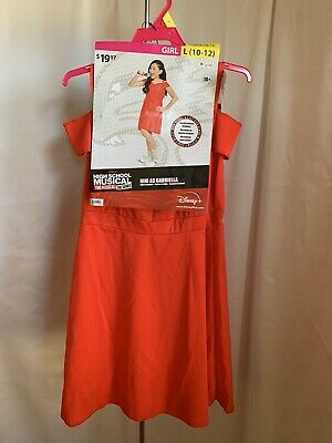 £16.64 • Buy High School Musical Girl's Large Red 2 Pieces Theatre Halloween Costume NWT