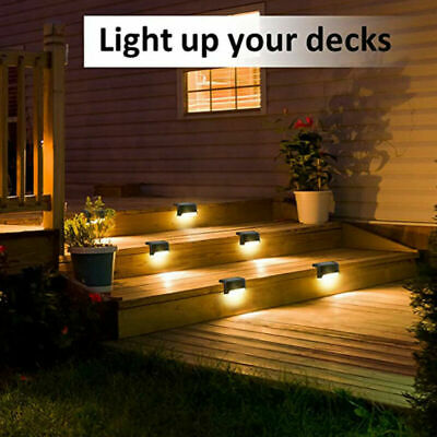 £14.99 • Buy 8x LED Solar Powered Wall Lights Garden Fence Step Path Decking Lamp Outdoor UK
