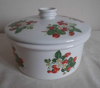 £9 • Buy Portmeirion ~ Summer Strawberries ~ Covered Serving Dish ~ Oven To Table