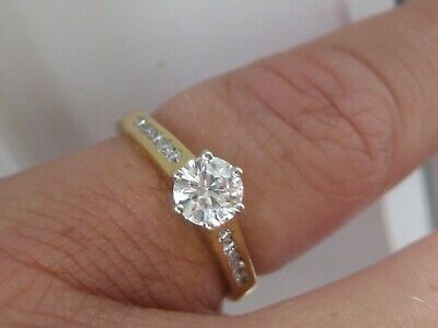 £795 • Buy 18ct Yellow Gold Diamond Solitaire Engagement Ring 0.65 Carat Size J K L M