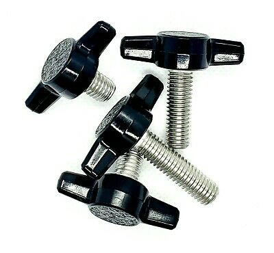$10.85 • Buy M6 Clamping Thumb Screws With Black T Knob Multiple Lengths Stainless Steel