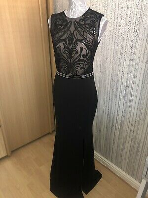 AU46.10 • Buy Lipsy Ladies Special Occasion Long Black Dress Size 12