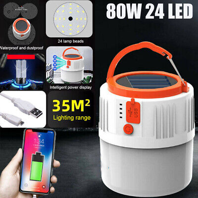 AU19.88 • Buy 24 LED Solar Light USB Rechargeable Outdoor Camping Lamp Tent Lantern Waterproof