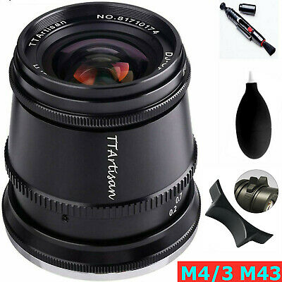 $118 • Buy TTArtisan 17mm F1.4 APS-C Wide Angle Manual Fixed Lens For M43 M4/3 Mount Camera