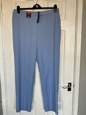 £10 • Buy Brand New M&S Collection Ladies Med Blue Straight Leg Trousers Size 18R