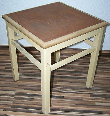 £50.02 • Buy Old Kitchen Stool Kitchen Wood Wooden Stool Schabby Chic Flower Bench Step