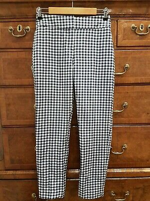£15.88 • Buy BNWT Phase Eight Tyna Navy White Gingham Checked Ankle Grazer Trousers, Size 10