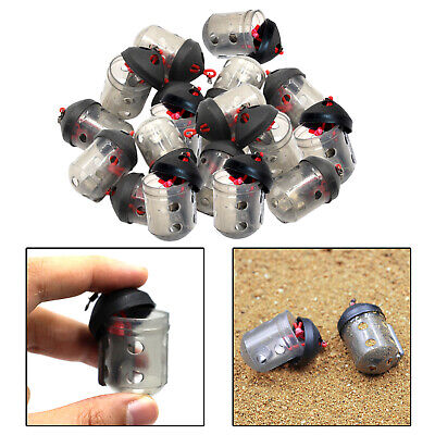 AU29.24 • Buy 20Pieces Fishing Bait Feeder Lure Cage Thrower Inline Method Fishing Gear