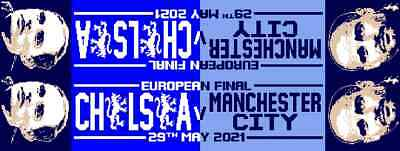 £4.99 • Buy European Cup Final 2021 Match Day Scarf Chelsea Champions Portugal 2021