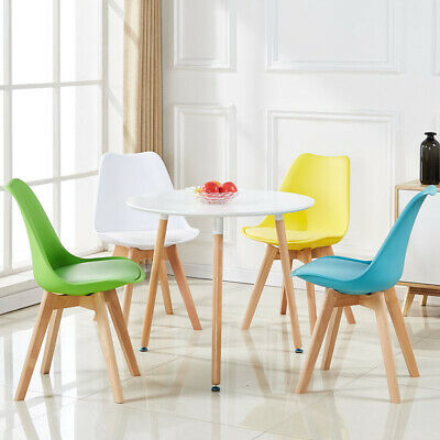 AU99.98 • Buy 4PCS Fashion Leisure Office Non-slip Solid Wood Legs PU Leather Dining Chair