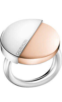 £25 • Buy CALVIN KLEIN Spicy Rose Gold And Silver Stainless Steel Ring BNIB X6