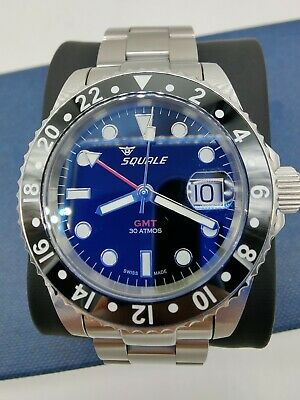 $ CDN926.45 • Buy Squale 30 ATMOS Black GMT Ceramic Bezel Automatic Watch COMPLETE SET