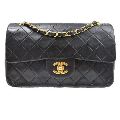 £2514.38 • Buy CHANEL Classic Double Flap Small Shoulder Bag 0927213 Black Lambskin 91525