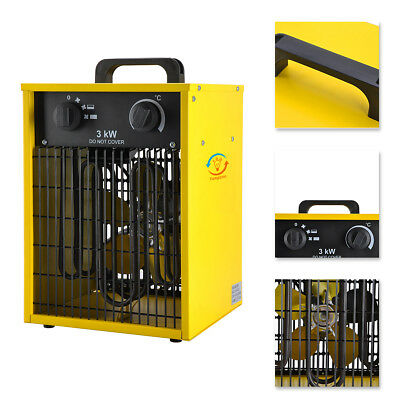 £49.99 • Buy 3000W Electric Industrial Workshop Fan Heater Space Heater Square Yellow 220V