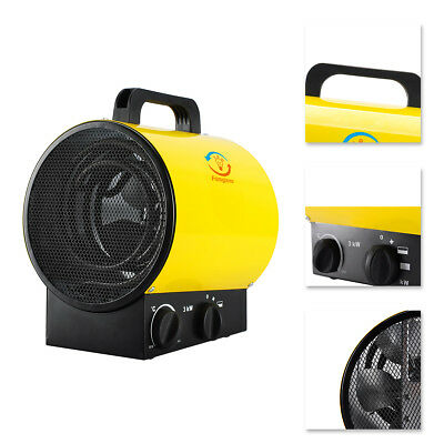 £49.99 • Buy 3KW Industrial Fan Heater Workshop Garage Shed 220V Electric Space Yellow