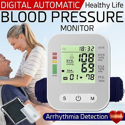 £14.95 • Buy Digital Blood Pressure Monitor Upper Arm Automatic BP Machine With Large Cuff UK